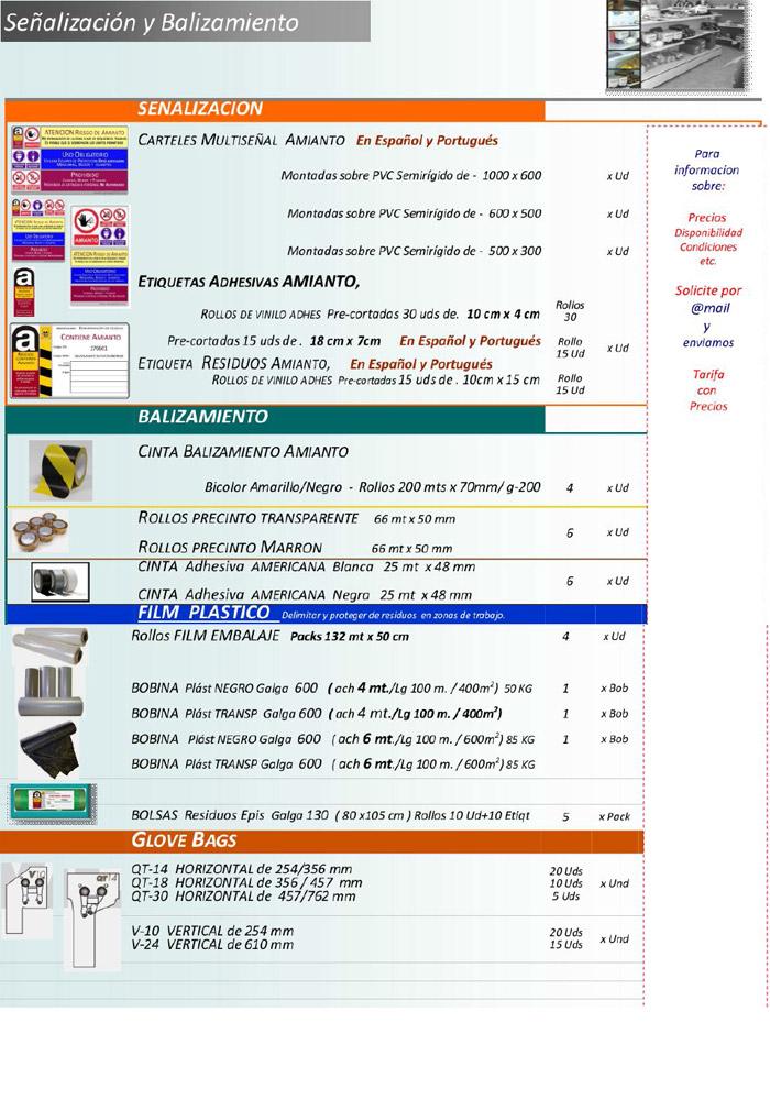 señalizacion y balizamiento de amianto
